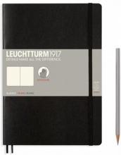 Lt349295 , Leuchtturm notitieboek composition softcover 178x254 mm  blanko zwart