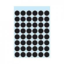 , Etiket Herma 1869 rond 12mm zwart 240stuks