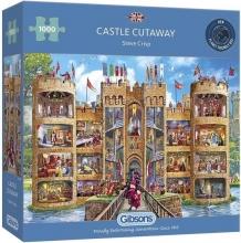 Gib-g6289 , Puzzel gibsons castle cutaway 1000 stukjes