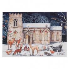 , Adventskalender 06 kerk met dieren