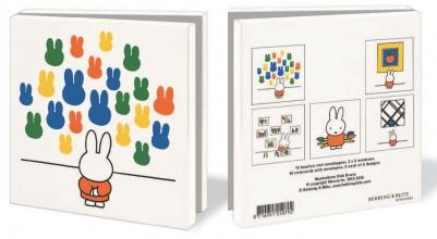 Wmc614 , Notecards met env 10 st 15x15 cm  kunst met nijntje
