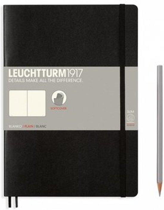 Lt349295,Leuchtturm notitieboek composition softcover 178x254 mm  blanko zwart