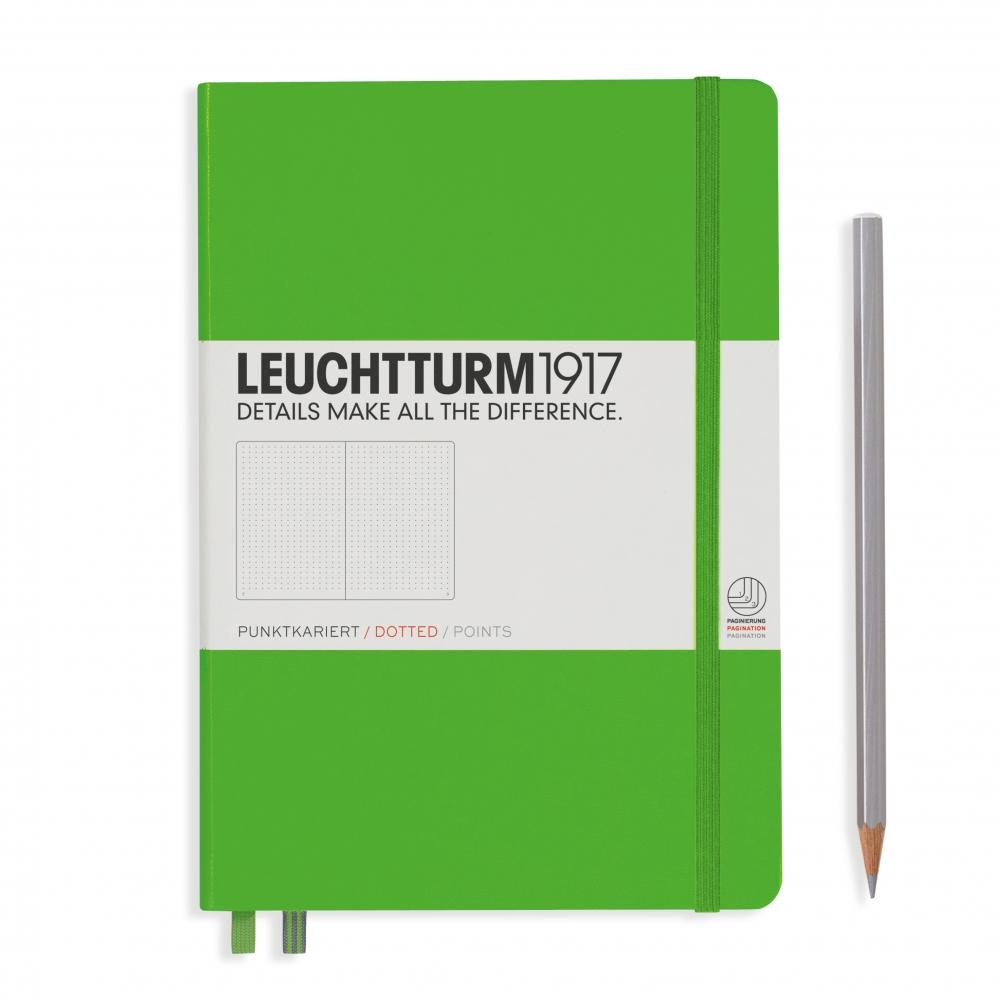 Lt357488,Leuchtturm notitieboek medium 145x210 lijn lichtgroen