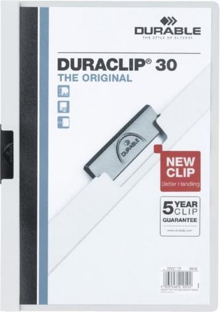 ,Klemmap Durable 2200 A4 3mm wit
