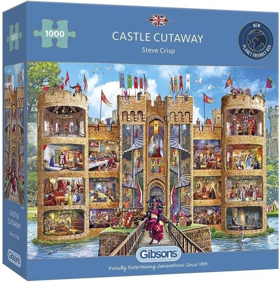Gib-g6289,Puzzel gibsons castle cutaway 1000 stukjes