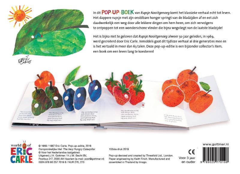 Eric Carle,Rupsje Nooitgenoeg pop-up-boek