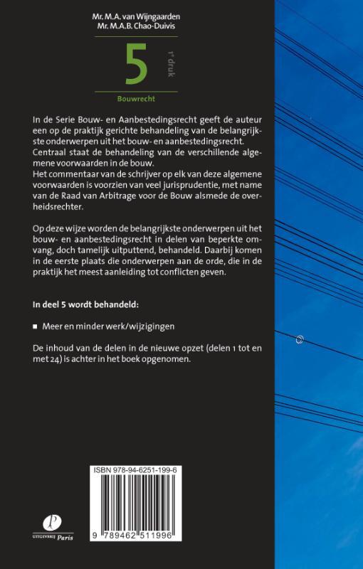 M.A. van Wijngaarden, M.A.B. Chao-Duivis,Jurisprudentie en regelgeving deel 5