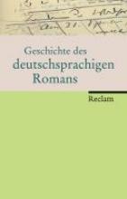 Detering, Heinrich Geschichte des deutschsprachigen Romans