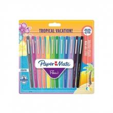 , Fineliner Paper Mate Flair Tropical 0.7mm blister à 12 kleuren