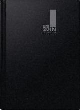 Buchkalender TimeCenter 2017 schwarz. Monat, 2 Seiten = 1 Monat, 210 x 297 mm