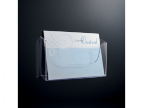 , folderhouder Sigel wandmodel A4 liggend transparant acryl 1 vak