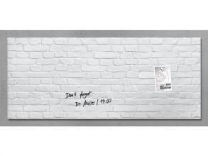 , glasmagneetbord Sigel Artverum 1300x550x15mm White Klinker