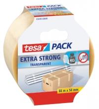 , Verpakkingstape Tesa 50mmx66m transparant extra sterk PVC