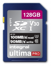 , Geheugenkaart Integral SDXC V30 128GB