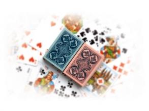 , Speelkaarten hondjeskaarten geplastificeerd blauw of roze