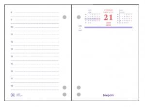 , Omlegblok 2021 Brepols 3 boorgaten 1 dag/2 pagina 8.4x12cm