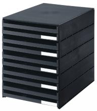 , Ladenbox Styroval 10 laden zwart open