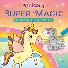 , Unicorn Super Magic Toverkrasblok Unicorn Super Magic Bloc Magique