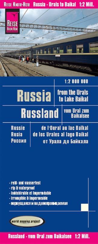 ,Reise Know-How Landkarte Russland - vom Ural zum Baikalsee 1 : 2 000 000