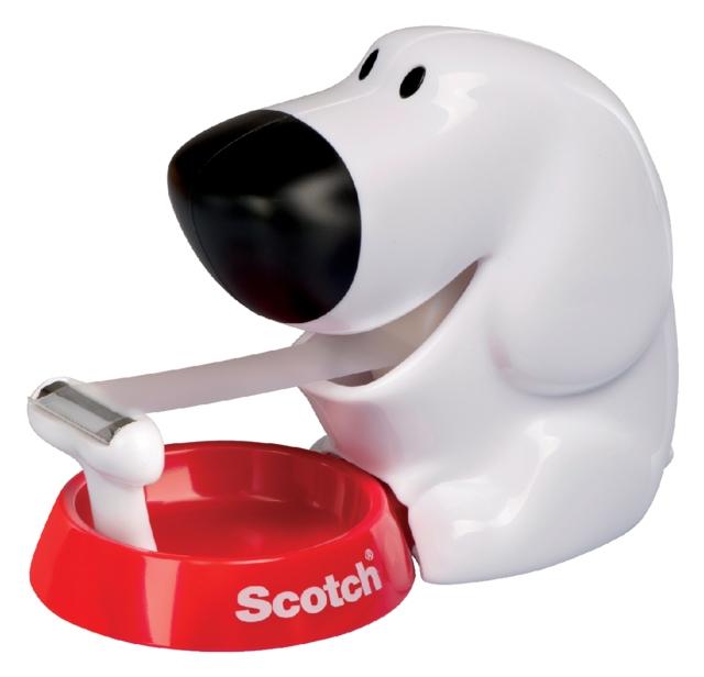 ,Plakbandhouder Scotch C31 hond + 1rol 19mmx7.5m