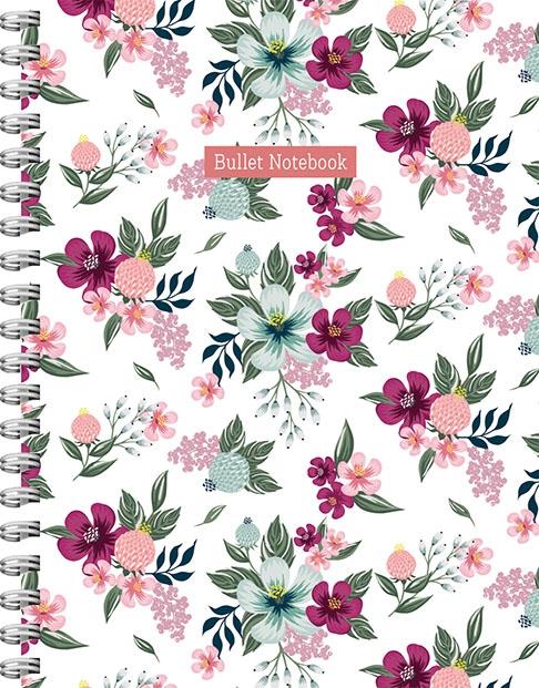 ZNU,Romantic Garden spiraalboek groot (bullet)