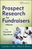 Filla, Jennifer J.,Prospect Research for Fundraisers