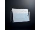 ,folderhouder Sigel wandmodel A4 liggend transparant acryl 1 vak