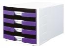 ,ladenkast HAN Impuls wit/     paars incl. 4 etiketten 294x368x235mm                       open laden