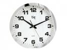 ,<b>wandklok TIQ diameter 400 mm kunststof zilver, witte        wijzerplaat</b>