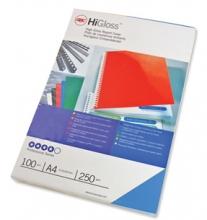 , Voorblad GBC A4 chromo karton 250gr blauw 100stuks