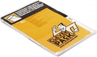 , Envelop CleverPack akte B4 245x350mm zelfkl. transp. 50stuks