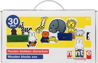 Bat-33409 , Nijntje - dierentuin - houten blokken - 30 pcs - bambolino
