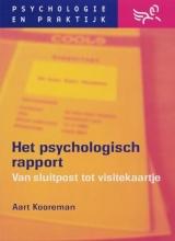 A. Kooreman , Het psychologisch rapport