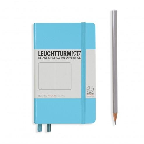 Lt357478,Leuchtturm notitieboek pocket 90x150 blanoc ijsblauw