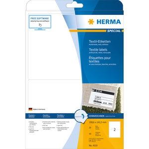 ,Etiket Herma 4519 199.6x143.5mm acetaatzijde wit