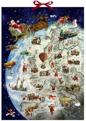 ,Adventskalender kerstmanrooster