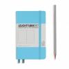 <b>Lt357478</b>,Leuchtturm notitieboek pocket 90x150 blanoc ijsblauw