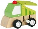 Mos-30659 , Houten auto vrachtwagen met opwindmotor assorti