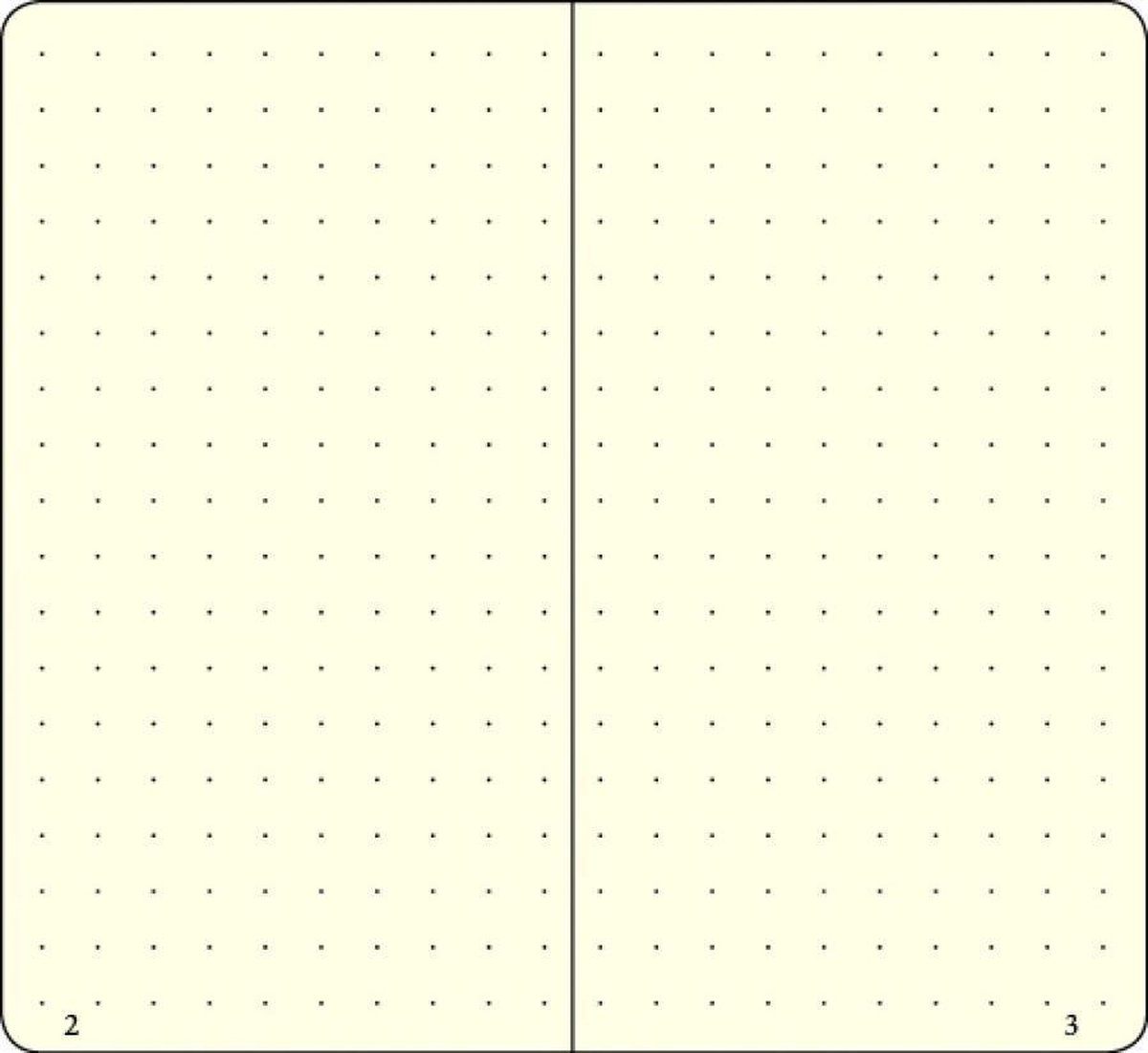 Lt346695,Leuchtturm notitieboek medium 145x210 puntjes/dots  azuurblauw