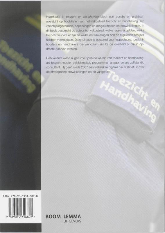 Rob Velders,Introductie in toezicht en handhaving