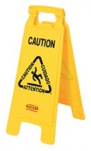 , Waarschuwingsbord wet floor caution 67x28x4cm geel