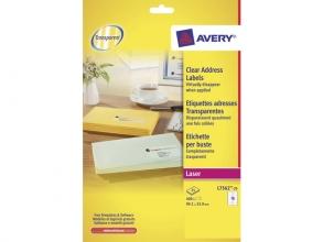 , laseretiket Avery 99,