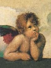 Raffael Santi - Sixtinische Madonna (detail) Blankbook