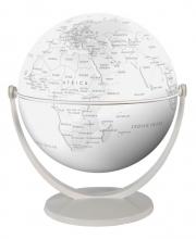 , Globe 15 cm pol. wit gestileerd draai & kantel
