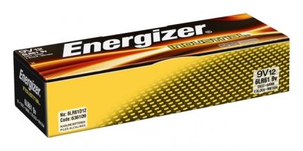 , Batterij Industrial 9Volt alkaline doos à 12 stuks