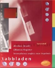 , Tabbladen Multo A4 23-gaats 5-delig PP assorti