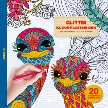 , Kleurboek glitter animals