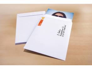 , akte envelop Raadhuis 262x371mm EB4 wit gegomd doos a 250   stuks