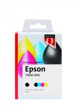 , Inktcartridge Quantore Epson 26XL T2636 zwart 3 kleuren