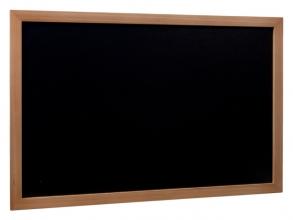, Krijtbord Securit wand 40x60cm teak hout
